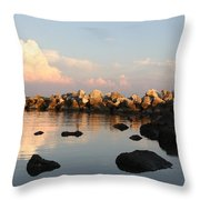 Tranquil Inlet Throw Pillow