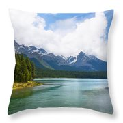 Tranquil Lake In The Canadian Rockies Throw Pillow
