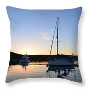 Tranquil Moorings Throw Pillow