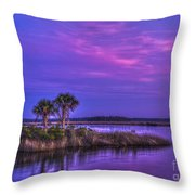 Tranquil Palms Throw Pillow