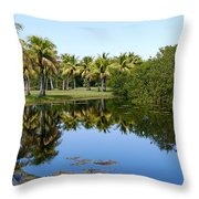 Tranquil Pond Throw Pillow