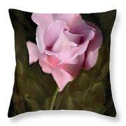 Tranquil Rose Throw Pillow