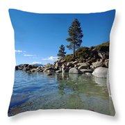 Tranquil Tahoe Beach Throw Pillow