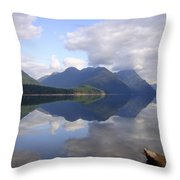 Tranquility Alouette Lake - Golden Ears Prov. Park, British Columbia Throw Pillow