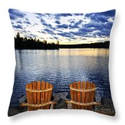 Tranquility At Sunset Throw Pillow by Elena Elisseeva
