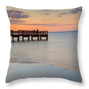 Tranquility At The Bayshore Throw Pillow