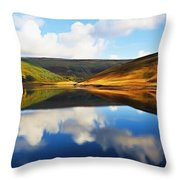 Tranquility Throw Pillow by Ayse Deniz