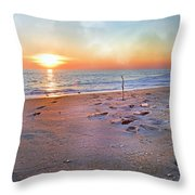 Tranquility Beach Throw Pillow by Betsy Knapp