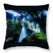 Tranquility Falls Throw Pillow
