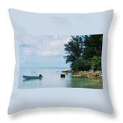 Tranquility In Bermuda Throw Pillow