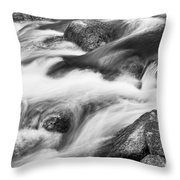 Tranquility In Black And White Throw Pillow