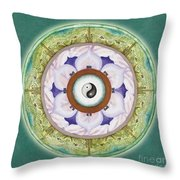 Tranquility Mandala Throw Pillow
