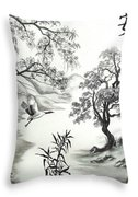 Tranquility W Kona Moringa Throw Pillow