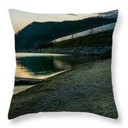Trans Siberian Sunset Throw Pillow