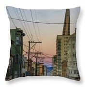 Transamerican Urbanism Throw Pillow