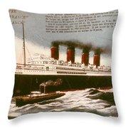 Transatlantic Liner, 1912 Throw Pillow