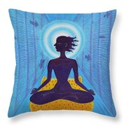 Transcendental Meditation Throw Pillow