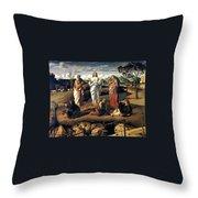 Transfiguration Of Christ 1487 Giovanni Bellini Throw Pillow