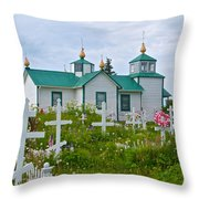 Transfiguration Of Our Lord Russian Orthodox Church In Ninilchik-ak Throw Pillow