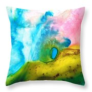 Transformation - Abstract Art By Sharon Cummings Throw Pillow by Sharon Cummings