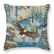 Transformation Of The Eagles Throw Pillow