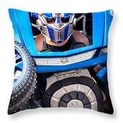 Transformer Man Mime Throw Pillow