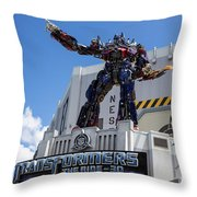 Transformers The Ride 3d Universal Studios Throw Pillow