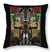 Transformers Transition Hcc Sw Parking Lot  Throw Pillow