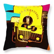 Transistor Deconstruction Throw Pillow