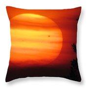 Transit Of Venus 2012 Throw Pillow