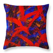 Transitions With Blue And Red  Throw Pillow