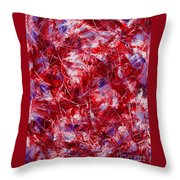 Transitions With White Red And Violet Throw Pillow