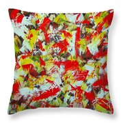 Transitions With Yellow Brown And Red  Throw Pillow
