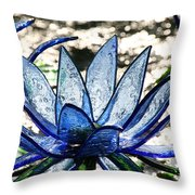 Translucent Blues Throw Pillow