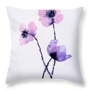 Translucent Poppies Throw Pillow