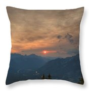 Translucent Sunset In Widescape Throw Pillow