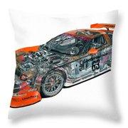 Transparent Car Concept Made In 3d Graphics 10  Throw Pillow