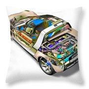 Transparent Car Concept Made In 3d Graphics 2 Throw Pillow