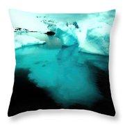 Transparent Iceberg Throw Pillow