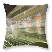 Transparent Trains Throw Pillow