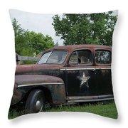 Transportation - Classic - Highway Patrol Throw Pillow