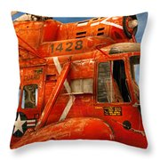 Transportation - Helicopter - Coast Guard Helicopter Throw Pillow