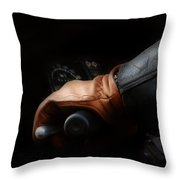 Leather Goes For A Ride Throw Pillow