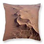 Transverse Sand Dune Namib-naukluft Np Throw Pillow