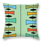 Trapezoids 3 Throw Pillow