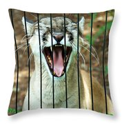 Trapped In A Cage Throw Pillow