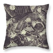 Trapped In Time Intaglio Throw Pillow
