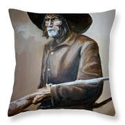 Trapper Throw Pillow