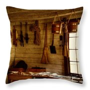 Trapper Supplies At The General Store Throw Pillow