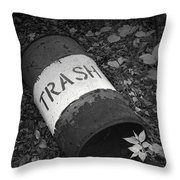 Trash Can Throw Pillow